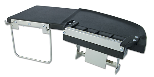 Coin tables by Cambist. Shown here is coin table no.98240 with coin guide and bag holder.