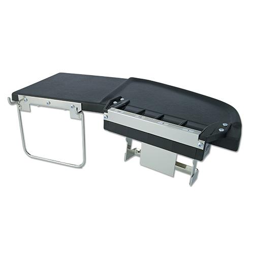 Cambist myntbord med myntledare och väskhållare.